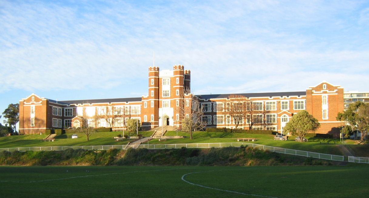 Melbourne High School, an elite school for boys showcasing classic Victorian architecture.