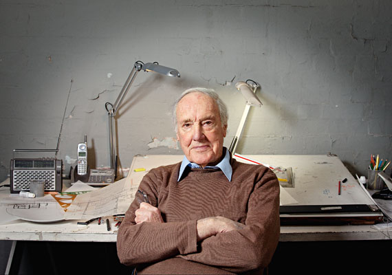 Neil Clerehan is a practising architect at 88 years old, pictured in his office. Picture by Shannon Morris